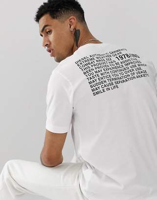 Diesel T-Just-Y1 relaxed fit logo t-shirt in white