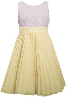 240d0b496fd Bonnie Jean Girls 7-16 & Plus Size Embellished Pleated Chiffon Dress