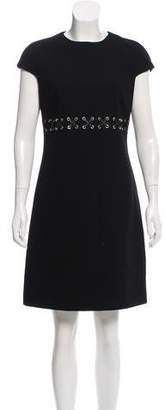 Michael Kors Short Sleeve Wool Dress