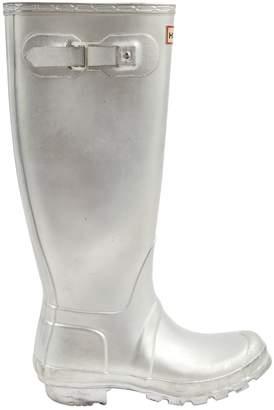 Hunter Silver Plastic Boots