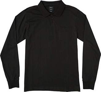 RVCA Men's HI Grade Long Sleeve Polo Shirt