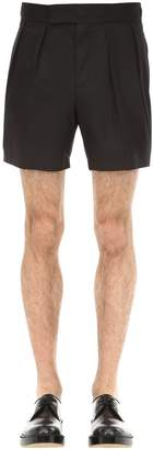 Neil Barrett Pleated Cotton Shorts