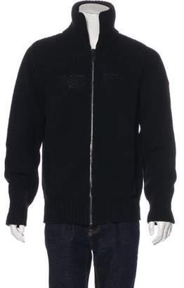 Burberry Wool Knit Zip-Up Jacket