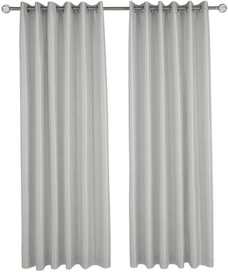 Very Made to Measure Faux Silk Eyelet Curtains – Silver