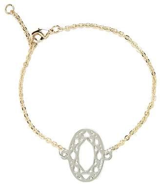 Girls' Best Friends Best Friends Girls'Brass Chain Bracelet 19 cm Silver-GBPOVALrodio