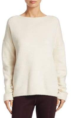 Theory Faux-Fur Pullover Sweater