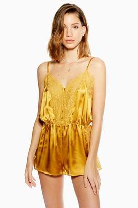 Topshop Satin Lace Teddy