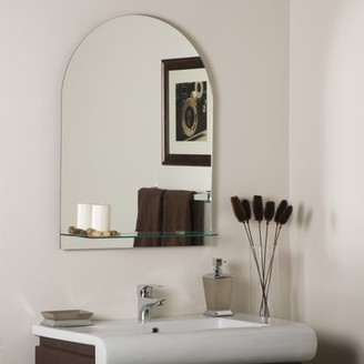 Décor Wonderland Roland Frameless Wall Mirror with Shelf