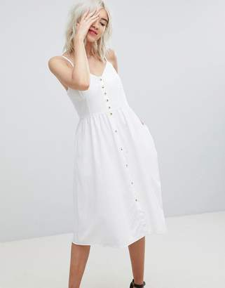 Rollas Rolla's Linen Button Detail Dress