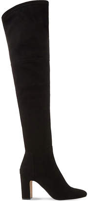 Dune Black Sable suede over-the-knee boots