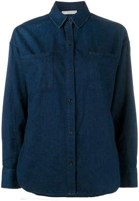 Vince blue denim long sleeve shirt