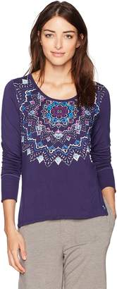 Lucky Brand Women's Rib Trimmed Graphic Sleep Top