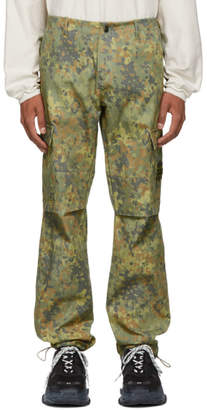 Resort Corps Green and Brown Camouflage Infantry Cargo Pants