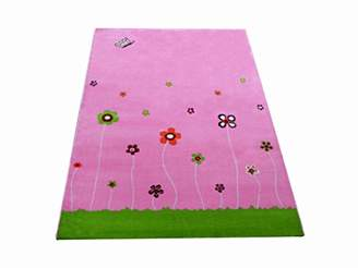 Little Helper 3D Childrens Play Rug in Summer Garden Design, Pink (134 x 180cm)