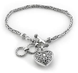 Samuel B Jewelry Sterling Silver Heart Charm Bracelet