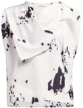 bd81adf1adc919 Lemaire Abstract Print Foulard Silk Blend Blouse - Womens - Black White