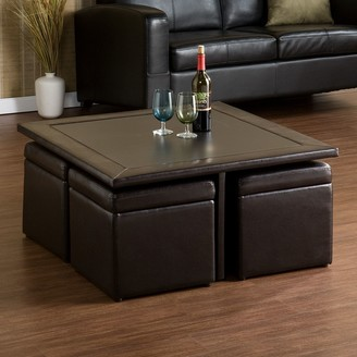 Nylo Southern Enterprises Storage Ottoman & Table Set