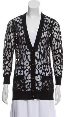 Magaschoni Silk Sheer Cardigan