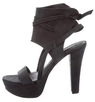 Vera Wang Lavender Label Suede Platform Sandals