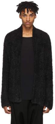 Baja East Black Fuzzy Knit Cardigan