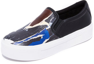 DKNY Bess Platform Slip On Sneakers $178 thestylecure.com