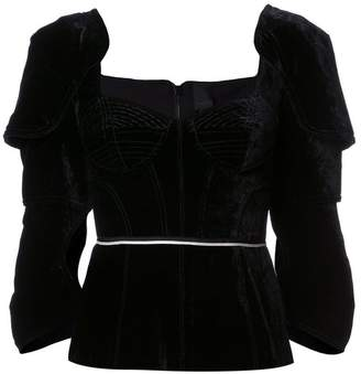 Vera Wang bustier fitted blouse a
