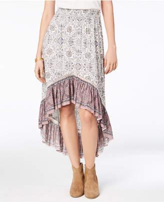 American Rag Juniors' Printed Ruffle-Hem Skirt, Created for Macy's