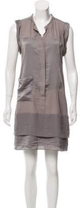 Schumacher Satin-Accented Shift Dress w/ Tags