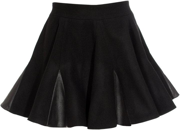 Felder Felder Skater skirt with leather trim