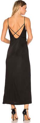 T by Alexander Wang Interlock Criss Cross Strap Dress in Black $425 thestylecure.com