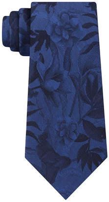 Van Heusen Narrow Chrome Floral Tie