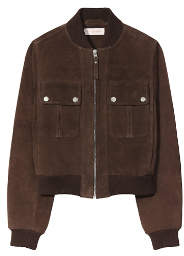 Tory Burch Suede Bomber Jacket