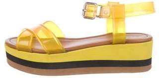 Fendi Round-Toe Rubber Sandals