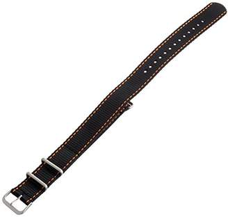 Hadley-Roma MS4220RAG200 20mm Nylon Black Watch Strap