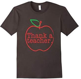 Thank a Teacher Fun Novelty Short Sleeve T Shirt Top