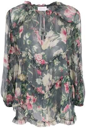 Zimmermann floral print ruffle blouse