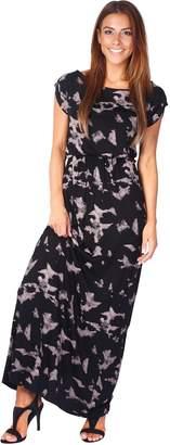 KRISP 5081-NUD-20: Tie Dye Jersey Maxi Dress
