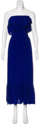 Jay Godfrey Silk Off-The-Shoulder Dress