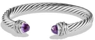 David Yurman Cable Classic Crossover Bracelet With Amethyst And