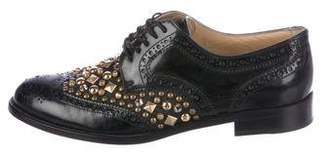 Dolce & Gabbana Embellished Brogue Oxfords