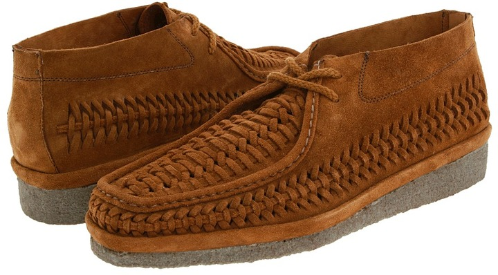 Florsheim by Duckie Brown Woven Idler Men's Lace Up Moc Toe Shoes
