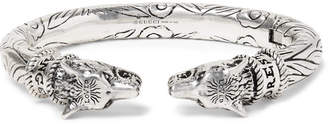 Gucci Wolf Head Sterling Silver Cuff