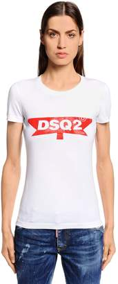 DSQUARED2 Vintage Printed Cotton Jersey T-Shirt
