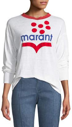Etoile Isabel Marant Klowyn Long-Sleeve Logo Tee