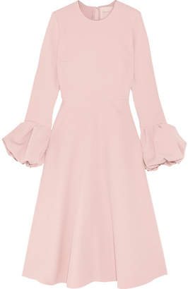 Roksanda Satin-trimmed Crepe Midi Dress - Pastel pink