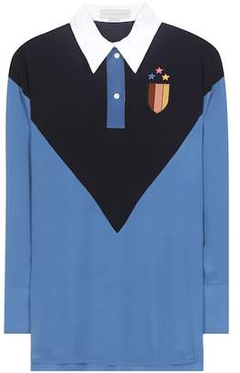 Stella McCartney Ornella embroidered silk shirt
