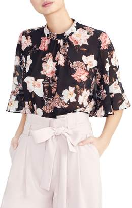Rachel Roy Collection Floral Ruffle Sleeve Blouse