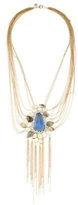 Alexis Bittar Labradorite & Crystal Pendant Necklace