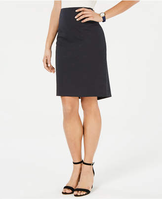 Tommy Hilfiger Dot-Print Pencil Skirt
