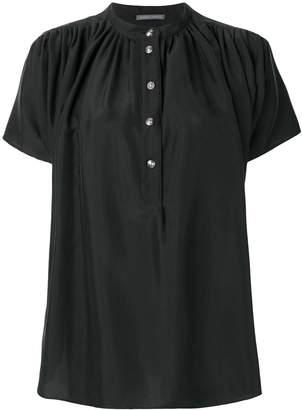 Alberta Ferretti flared button blouse
